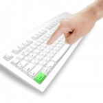 Hand with keyboard